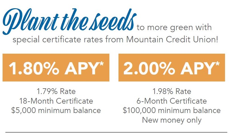 Share Certificate Accounts North Carolina Mountain Credit Union